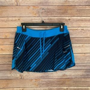 Women's Nike running skirt blue pattern size small